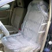 Car Seat Covers Box of 100 Clear Plastic 25 Micron
