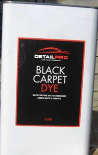 Black Carpet Dye Detail Pro 5 Litre