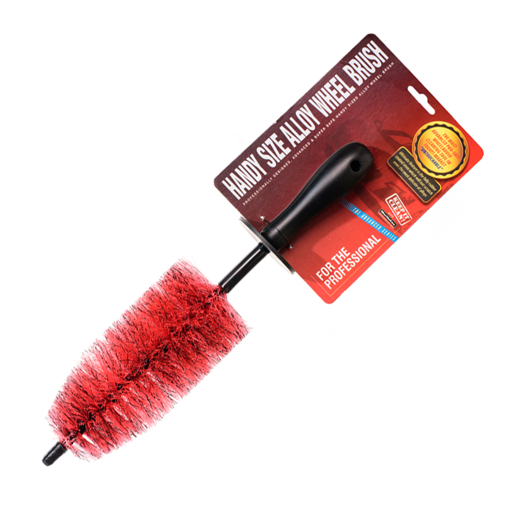 Small Red Wheel Brush