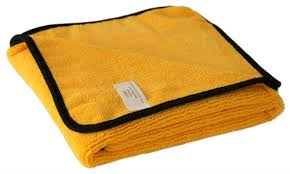 Microfibre Gold & Black Luxury Cloths 60 x 40