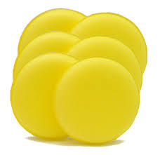 Foam Applicator Pads yellow fine (6 pack)